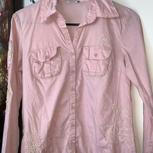 Button down long sleeve blouse